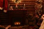 Farley's Christmas log cabin in Santa Cruz